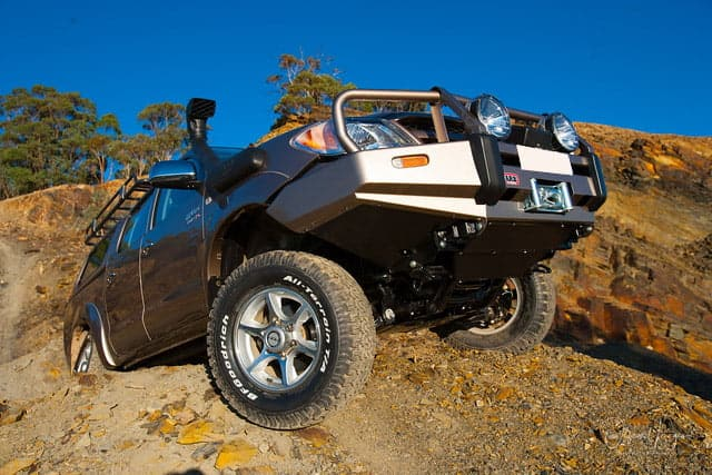 An Off Road ARB Hilux in Victoria State Forest, serviced by 4x4 Obsession