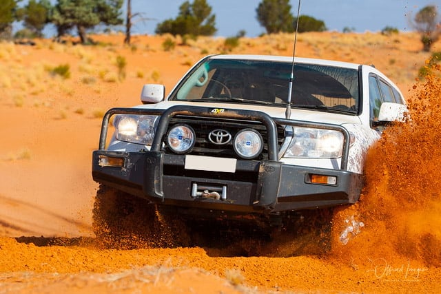 Toyota Landcruiser in Outback Desert, serviced by 4WD industry experts   4x4 Obsession