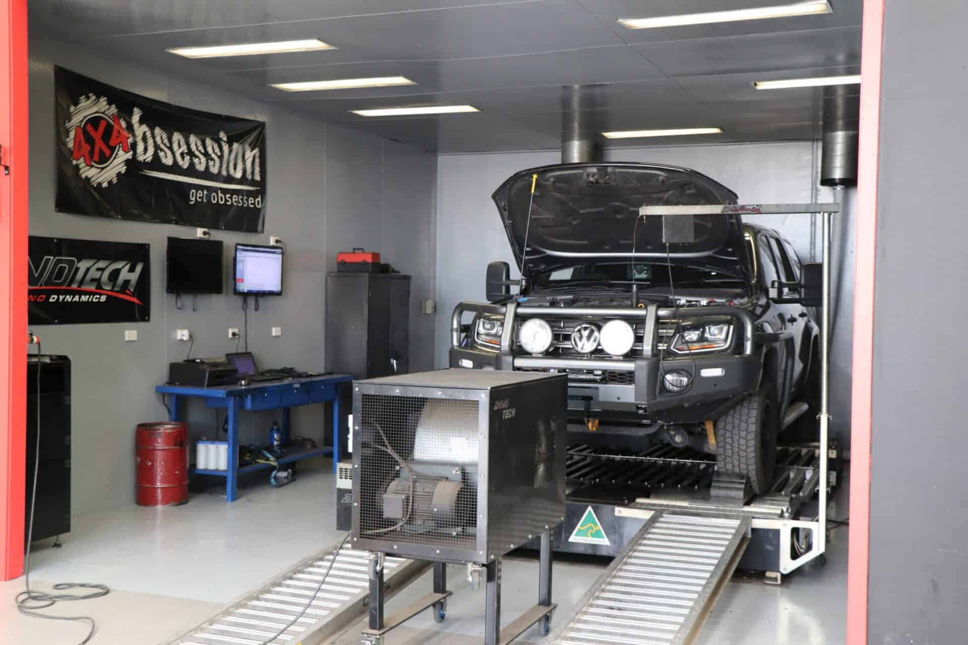 A 4WD under Dyno Tune Testing during a 4WD Performance Service | 4x4 Obsession, Melbourne